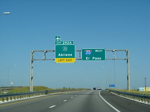IH 20 west at Business Loop I-20 to Abilene, Texas