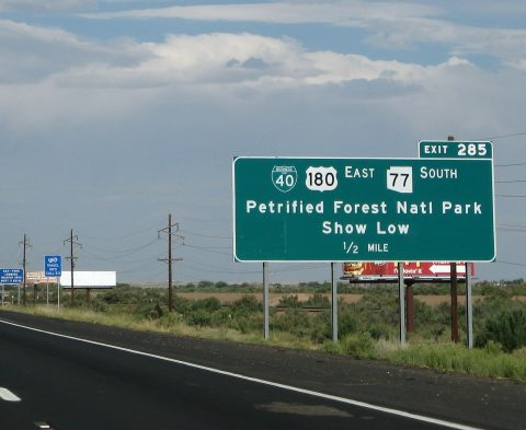 I-40 east at Holbrook, Arizona and Business Loop I-40