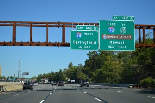 Garden State Parkway north at I-78 - Union, NJ