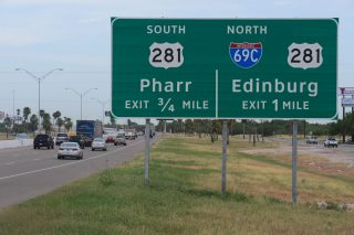 IH 2 east at IH 69C - Pharr, TX