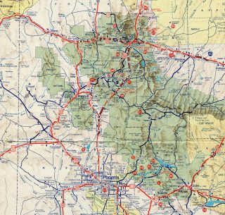 1964-65 Arizona Official Highway Map
