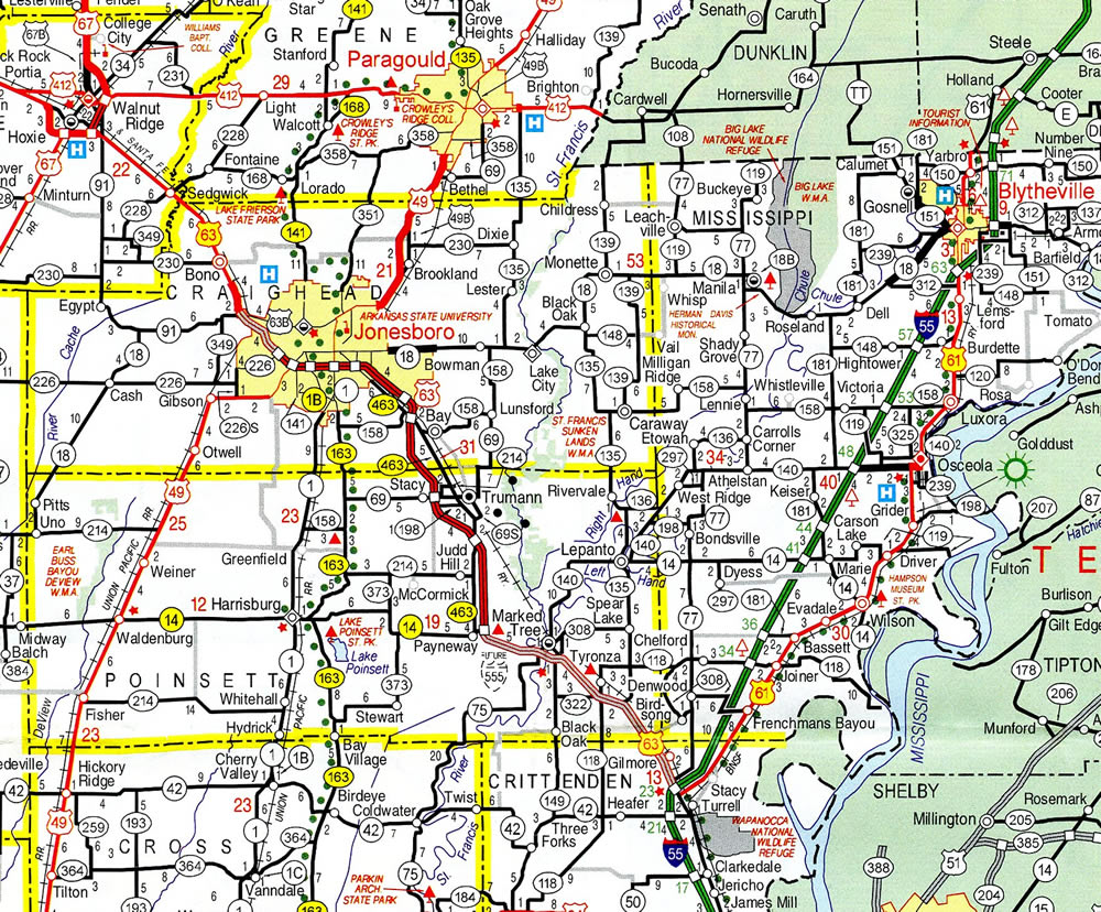 Interstate 555 Arkansas - Interstate-Guide.com