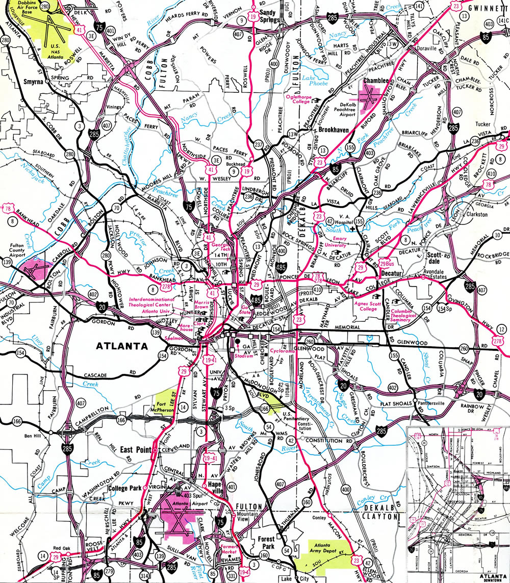 Atlanta Highway Map Interstate 485 Georgia   Interstate Guide.com