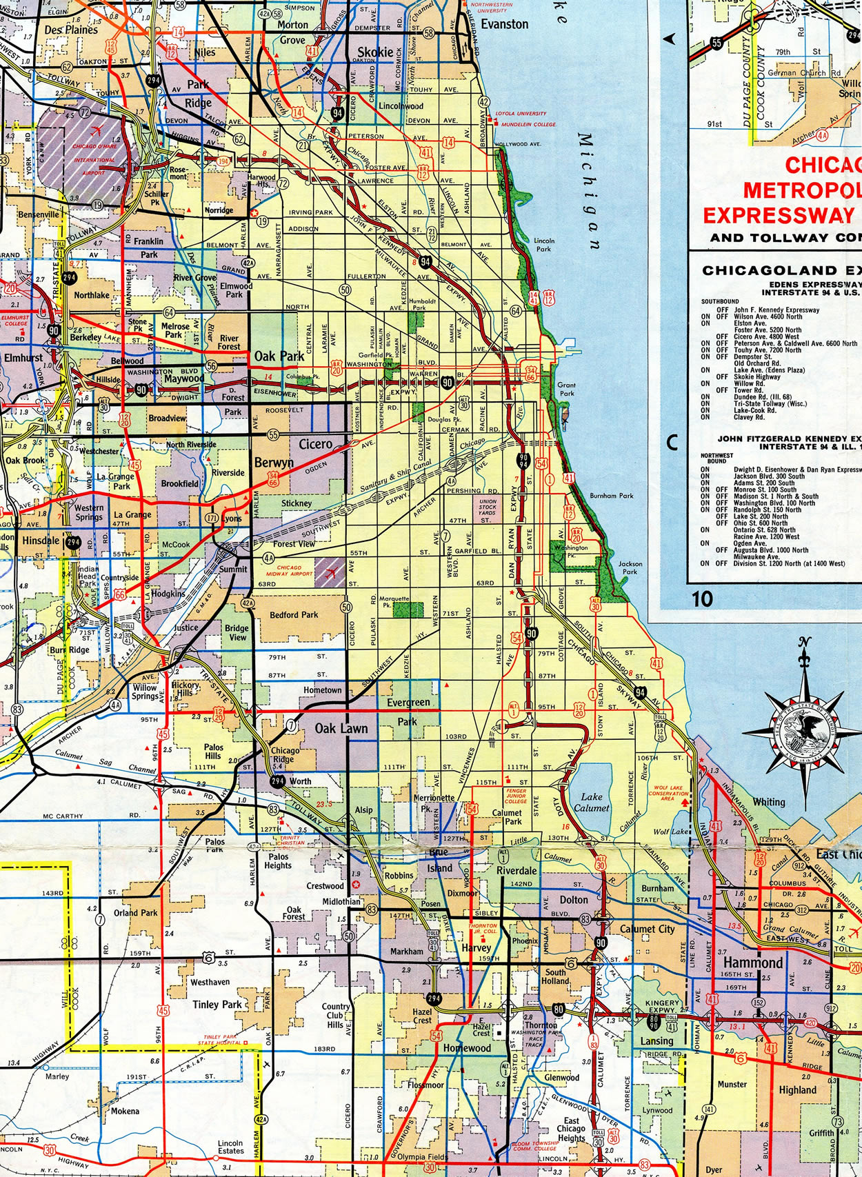 chicago-il-1964 I Road Map on highway 287 map, i-94 illinois map, i 94 toll map, i-94 milwaukee map, i 94 united states, i 94 east map, i-94 wisconsin map, i 90 road map, i 80 road map,