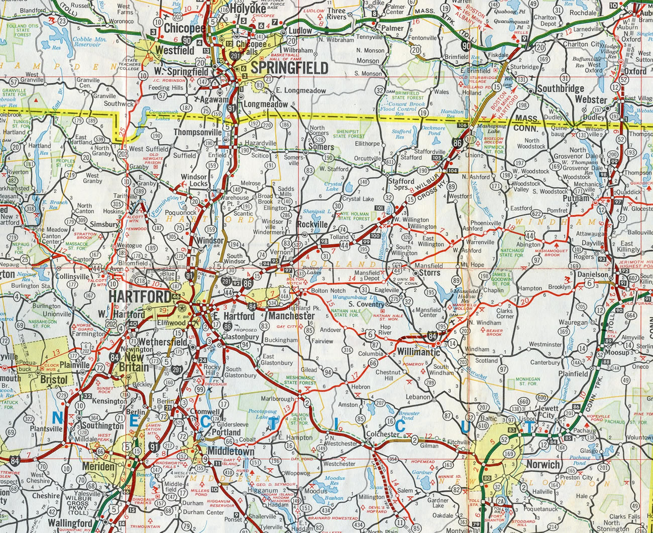 Map Of Rt 84 In New York.Interstate 84 Eastern Interstate Guide Com