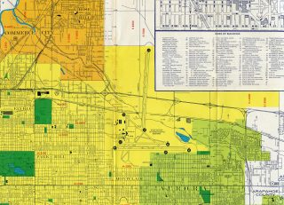 Denver, CO - 1960s Map