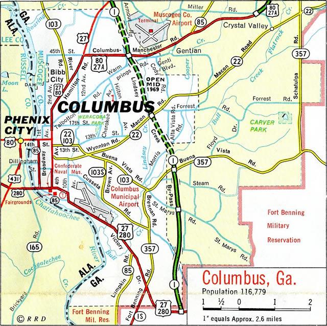 Map Of Southwest Georgia.Interstate 185 Georgia Interstate Guide Com