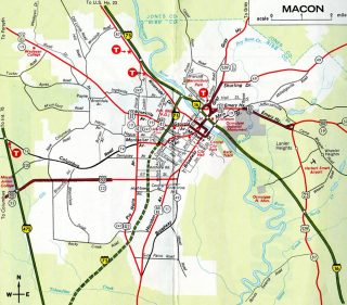 Macon, GA - 1970 Map