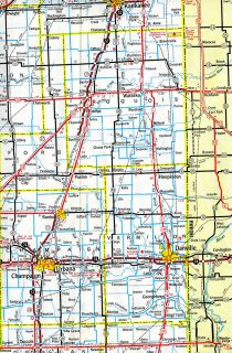 I-57 - Champaign-Kankakee, IL - 1971 Map