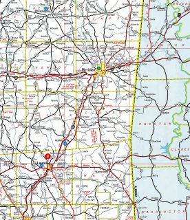 I-59 Laurel - Meridian - 1967 Map
