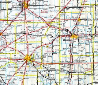 I-72 - 1971 Illinois Official Highway Map