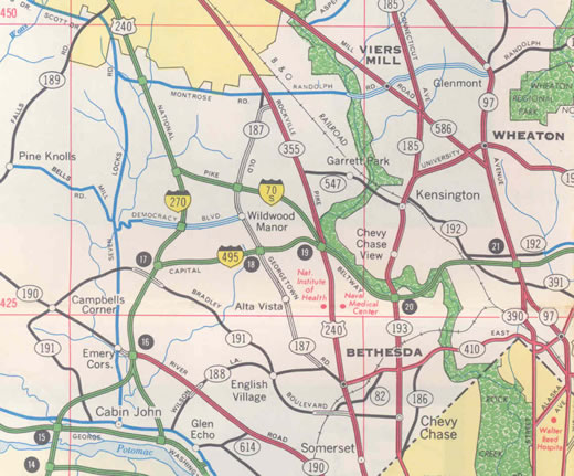I-270 - 1968 Maryland Official Highway Map