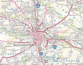 Richmond, VA area - 1968 Map