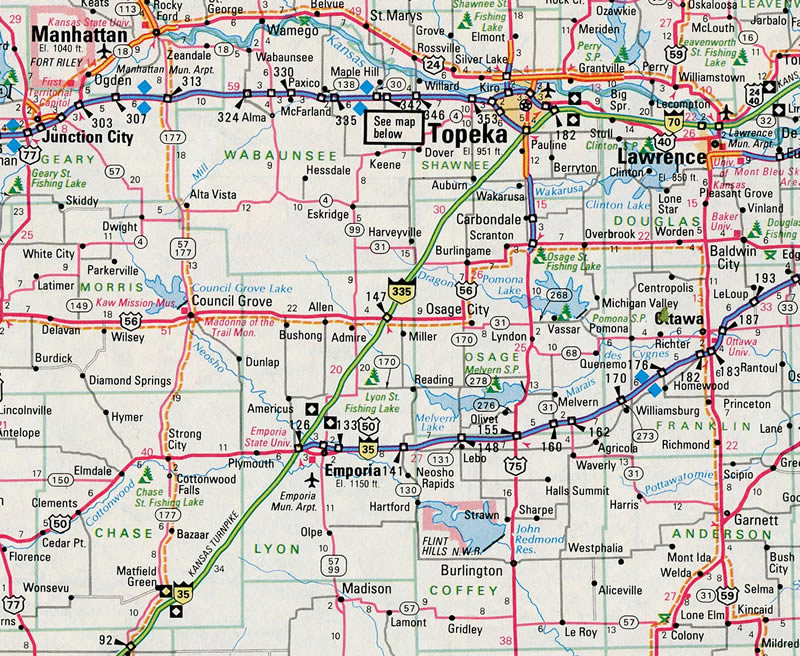 Interstate 335 Kansas - Interstate-Guide.com on small kansas town map, atlas road map, indiana road map, lawrence kansas road map, md road map, mo road map, idaho road map, current road conditions kansas map, kc road map, kansas county map, topeka road map, km road map, kansas city road map, kansas driving map, nebraska road map, oklahoma road map, kentucky road map, wichita road map, co road map, bc british columbia road map,