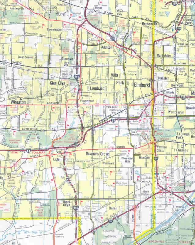 Interstate 355 Illinois - Interstate-Guide.com on il road closures map, ill weather map, illinois road map,
