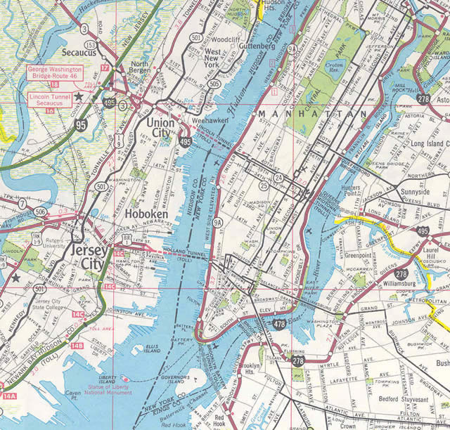 I-495 New Jersey - 1969 Map