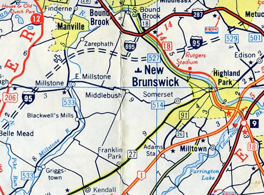 Proposed I-695 New Jersey - 1973