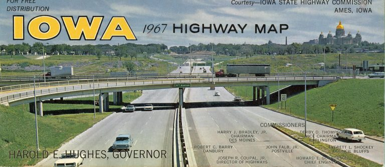 1967 Iowa Official Highway Map Cover