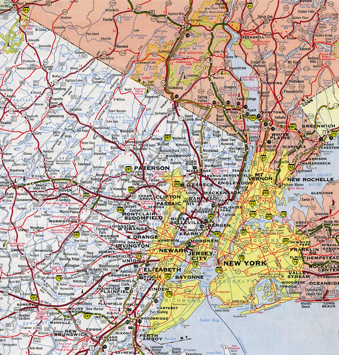 Interstate 287 New Jersey / New York - Interstate-Guide.com