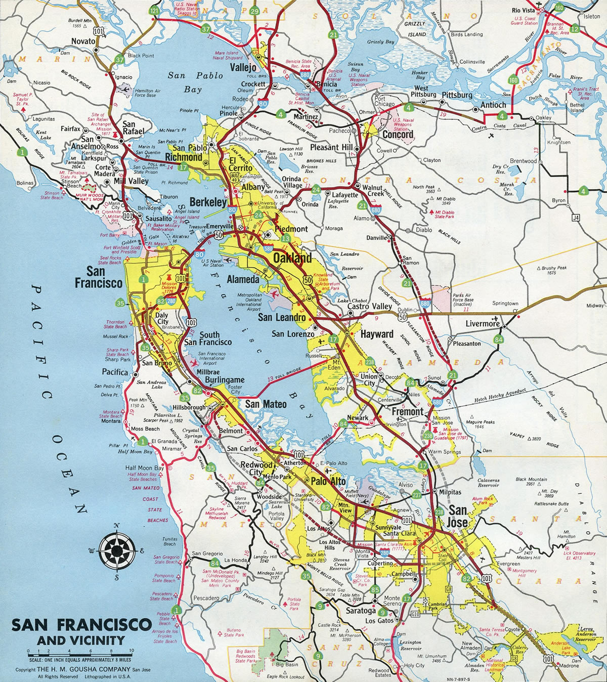 Interstate 680 California Interstate Guide Com The map below, updated hourly, shows air quality levels across broad areas in the bay area. interstate 680 california interstate