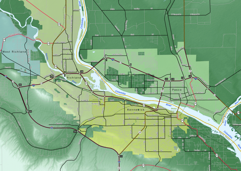 Tri-Cities Washington Map