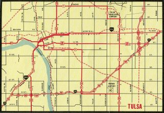 Tulsa, OK - 1965 Map