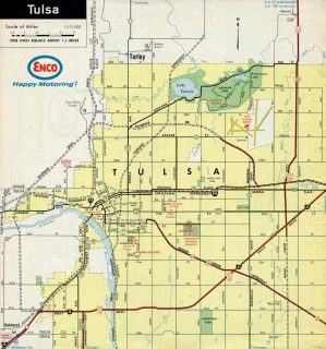 Tulsa, OK - 1968 Map