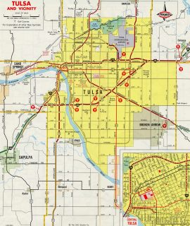 Tulsa, OK - 1971 Map