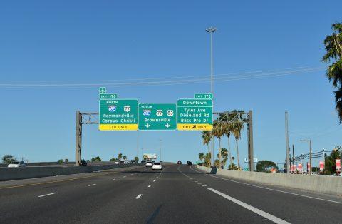 IH 2/US 83 east at IH 69E/US 77 - Harlingen, TX