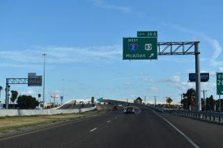 IH 69E/US 77 south at IH 2/US 83 - Harlingen, TX