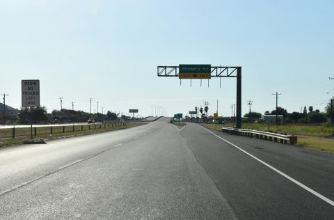 US 83 east at IH 2 / Showers Rd - Palmview, TX