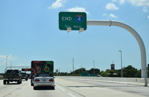 I-4 west at I-275 - Tampa, FL