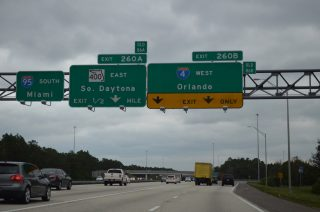 I-95 south at I-4 - Daytona Beach, FL
