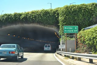 SR 1 north - McClure Tunnel - Santa Monica, CA