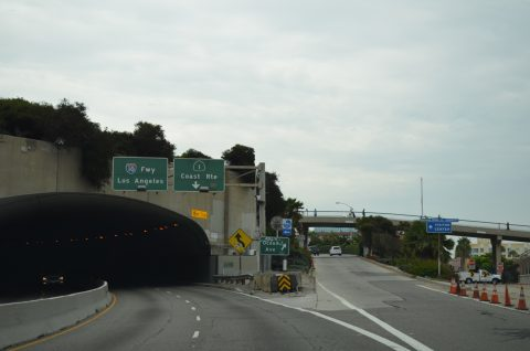 SR 1 south at McClure Tunnel - Santa Monica, CA