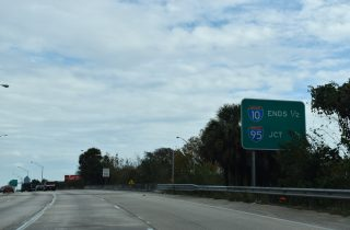 I-10 east at I-95 - Jacksonville, FL