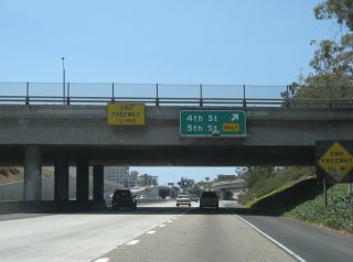 I-10 west at SR 1 - Santa Monica, CA