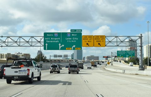 I-95 north at I-10 - Jacksonville, FL