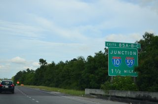 I-12 east at I-10/59 - Slidell, LA