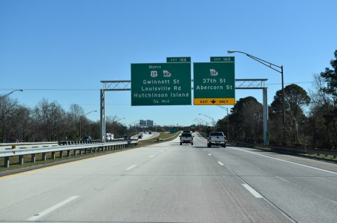I-16 east at SR 204 - Savannah, GA