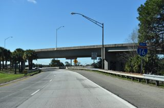 I-16 west at US 17/SR 404 Spur - Savannah, GA