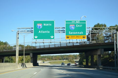 I-75 north at I-16 - Macon, GA