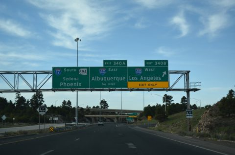 I-17/SR 89A south at I-40 - Flagstaff, AZ