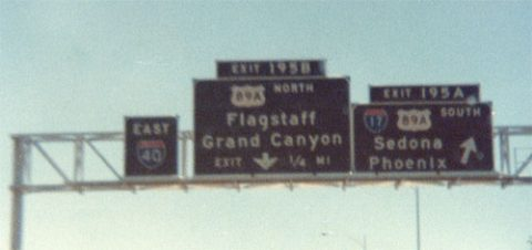 I-40 east at I-17/US 89A - 1978