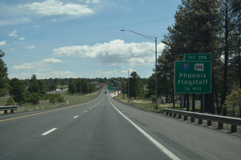 I-40 east at I-17/SR 89A - Flagstaff, AZ