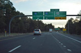 I-40 west at I-17/SR 89A - Flagstaff, AZ