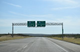 IH 10 east at IH 20 - Reeves County, TX