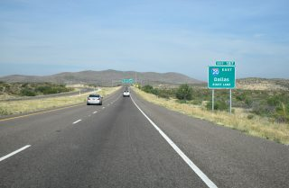 I-10 west at I-20 - Reeves County, TX