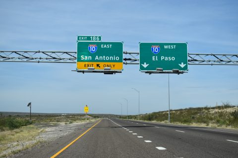 IH 10 west at IH 20 - Reeves County, TX