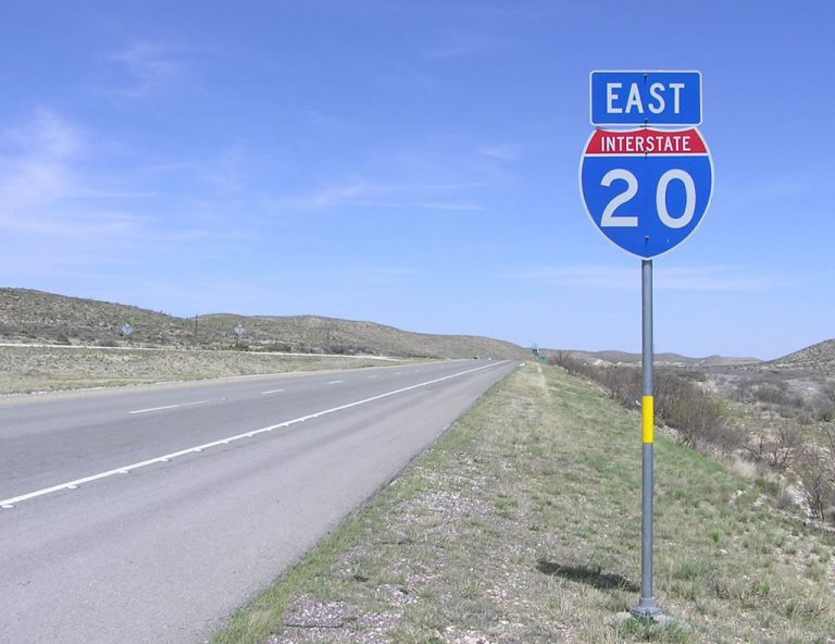 IH 20 east of IH 10 - Reeves County, TX